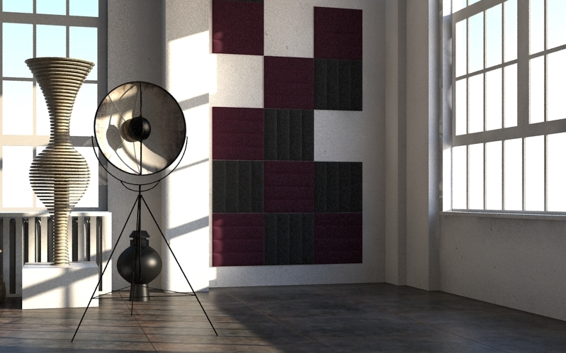 pannello a muro eco wall slalom nero bordeaux